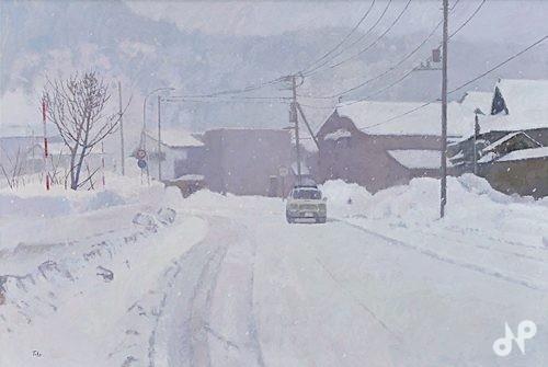 雪しまきあと