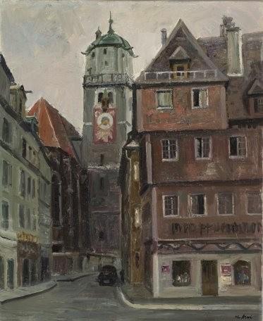 古い教会のある街(西ドイツ)