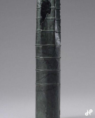 紙塑蠟型 青銅花挿