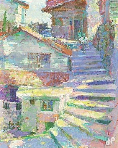 陽のあたる階段